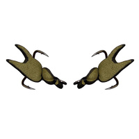 Replacement Claw - 2 x Hook Set - Crab 50mm Treble Hook Model - OLIVE CLAW SETS