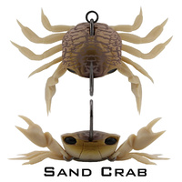 Crab - Single Hook Model - 85mm (3.35 inch) - 21 grams (0.74 ounce) SAND CRAB
